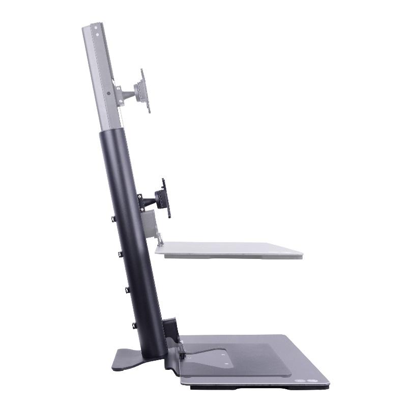 Monitor-Workstation Sit & Stand, ergonomische Arbeitsplatzlösung