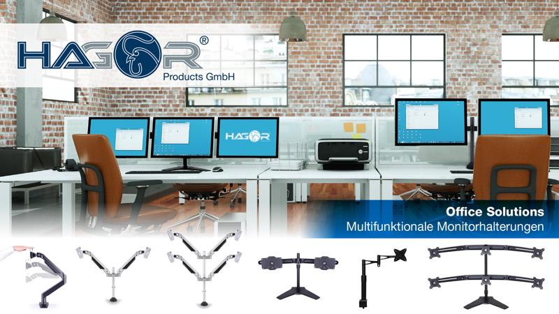 Hagor Mehrmonitor-Arbeitsplatz – Office Solutions