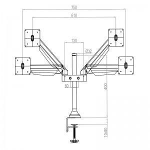 7249_m vesa gas lift arm dual_zeichnung_001